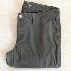 Michael Kors Grey Ankle Zip Pants